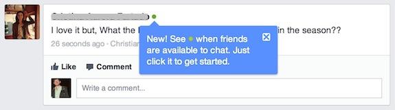 facebook green presence dot