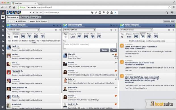 foursquare for business hootsuite