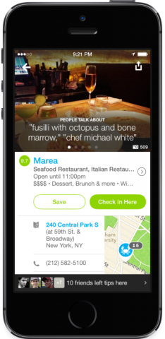 foursquare new design for ios 7