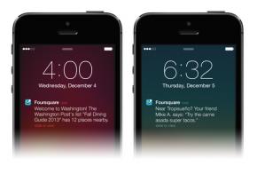 foursquare new design ios 7 feat