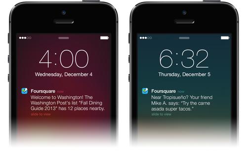 foursquare new design ios 7