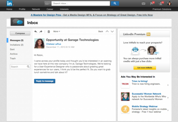 linkedin new inbox