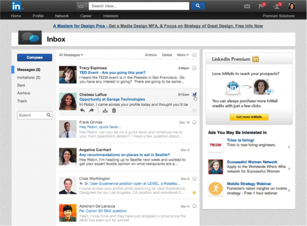 linkedin new inbox