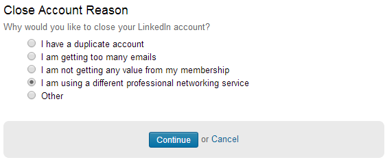 linkedin how to delete account