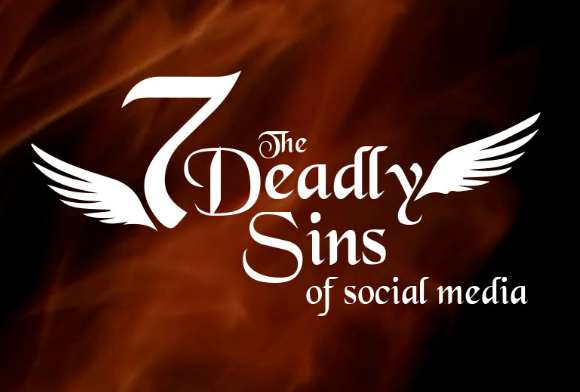 the 7 deadly sins of social media infographic feat