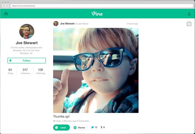 vine web profiles