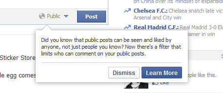 Facebook public posts comments filter