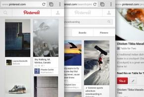 Pinterest new mobile design