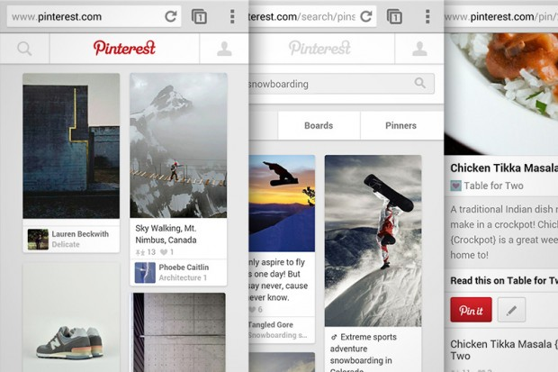 Pinterest new mobile design