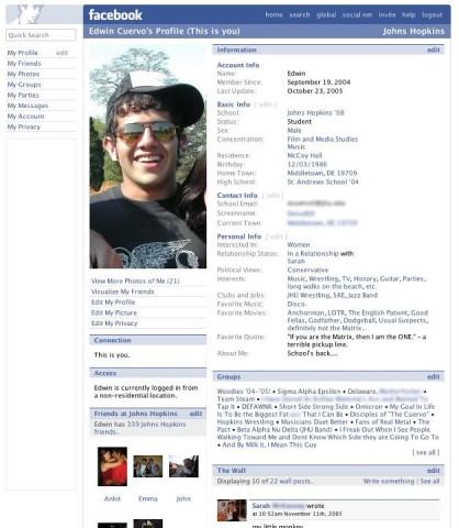 facebook design 2006