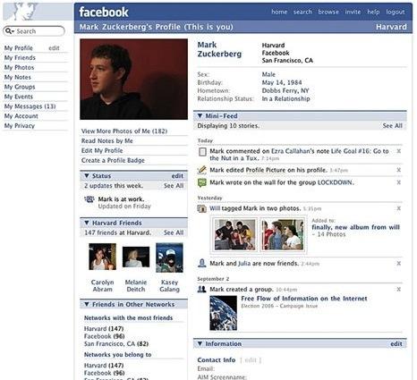 facebook design 2007
