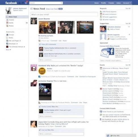 facebook design 2010