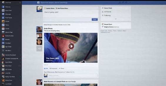 facebook design 2013