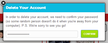 foursquare how to delete account