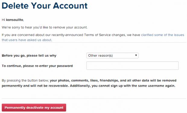 instagram how to delete account