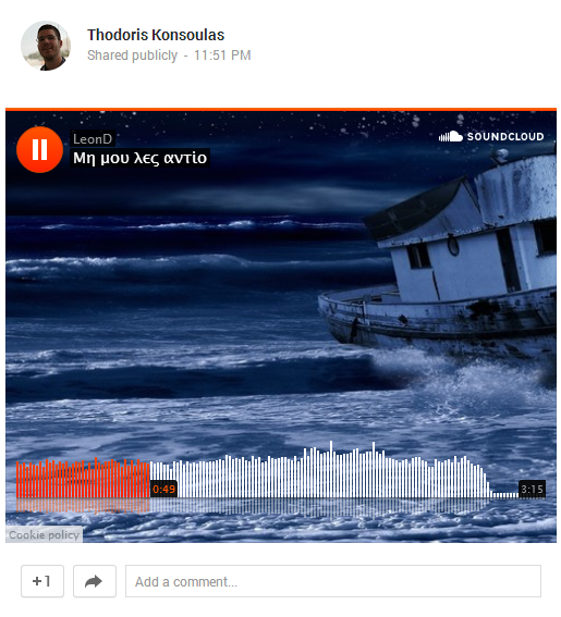 soundcloud new player for google plus