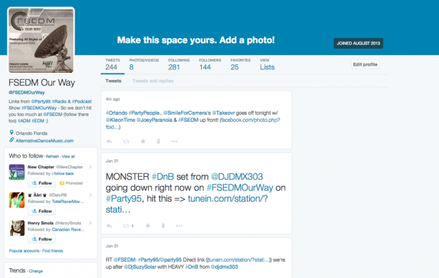 twitter new web profile design