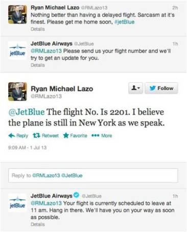 customer support on facebook JetBlue Airways