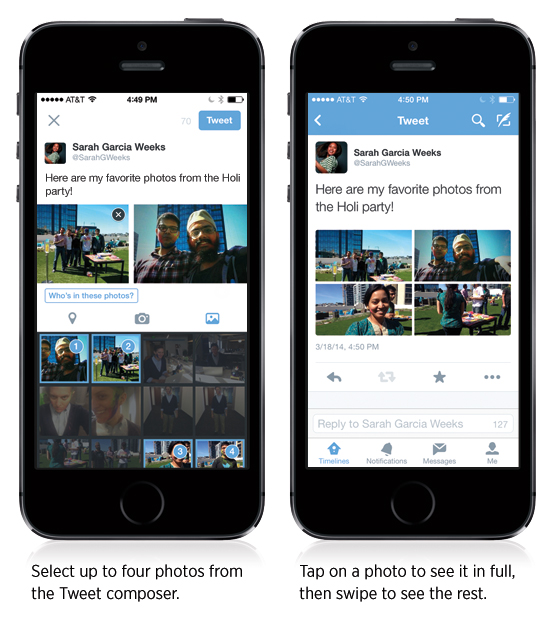 twitter share four photos in one tweet
