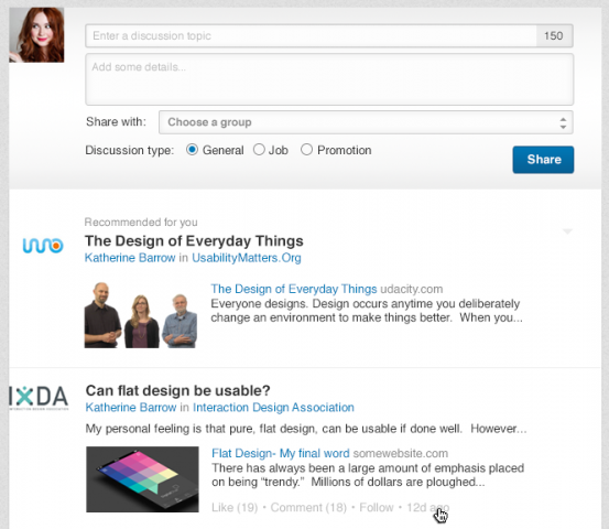 linkedin new groups page