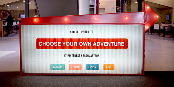 pinterest choose your own adventure event