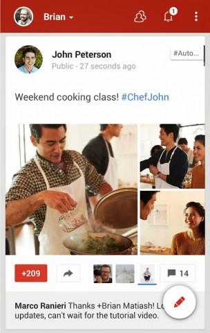 Google Plus pencil icon