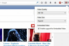 YouTube High Definition mozilla firefox