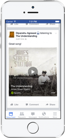 facebook music and tv identification