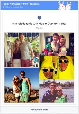 facebook anniversaries