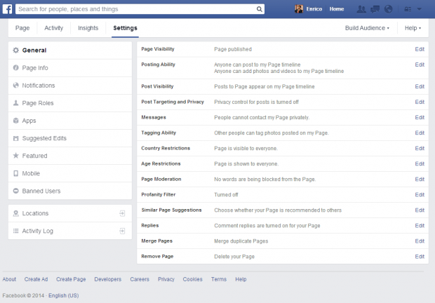 facebook pages managing locations