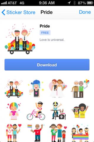 facebook pride stickers