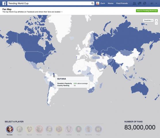 facebook world cup fandom map