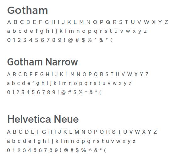 twitter helvetica neue vs gotham font