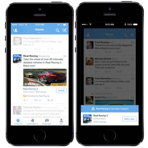 twitter mobile app promotion