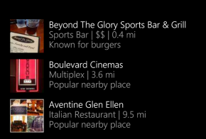 cortana suggests foursquare places