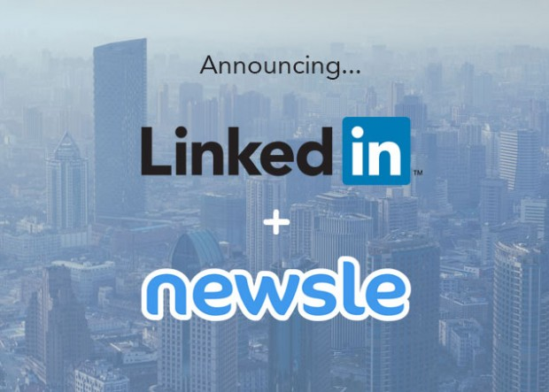 linkedin acquires newsle
