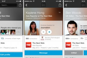 new LinkedIn profiles for Android iOS
