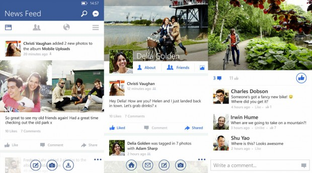 Facebook for Windows Phone big update