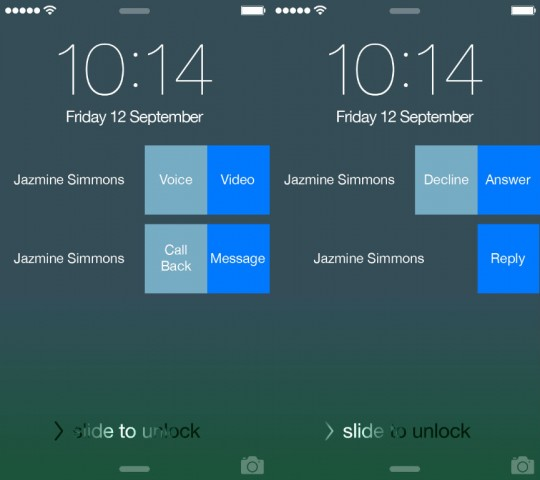 Skype react from lock screen ios 8