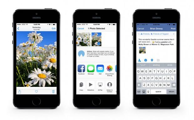 facebook share button for ios 8