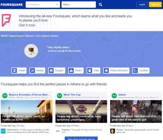 foursquare web