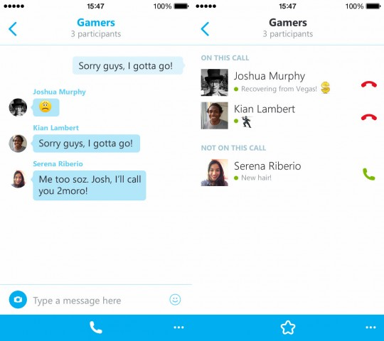 skype for iphone group audio calls