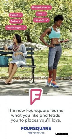 Foursquare outdoor ad