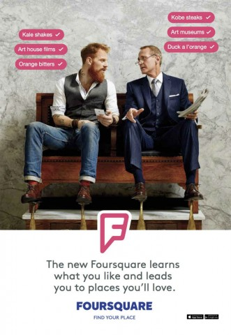 Foursquare outdoor ad