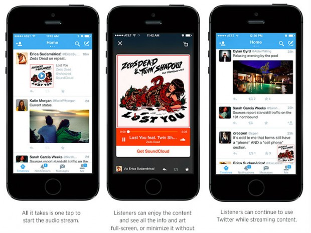 Twitter audio card for iTunes SoundCloud