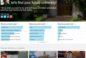 linkedin university finder