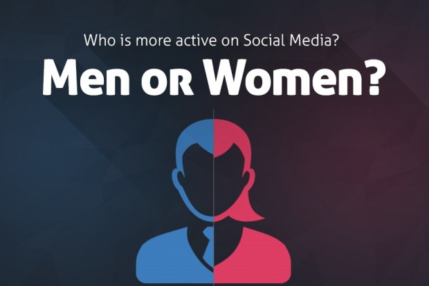 social media men vs women infographic feat