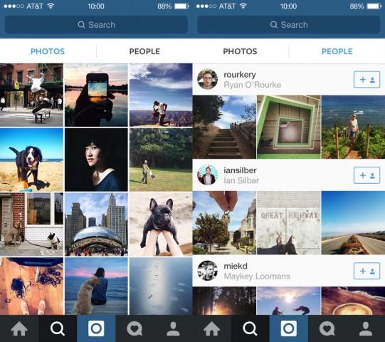 Instagram new People tab in Explore tab