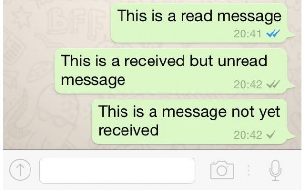 WhatsApp message has been read