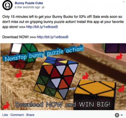facebook bad promotional post